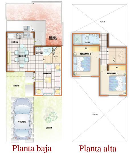 planos de casas de dos pisos infonavit