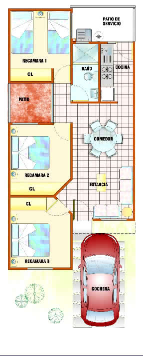 planos de casas infonavit